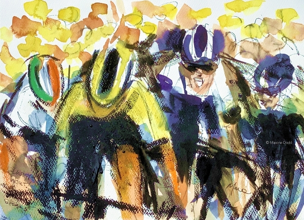 Unstoppable Wout!, Mixed media by Maxine Dodd