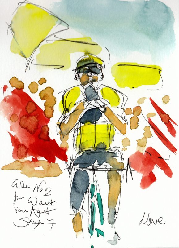 Win no 2 for Wout! Water colour, pen and ink by Maxine Dodd