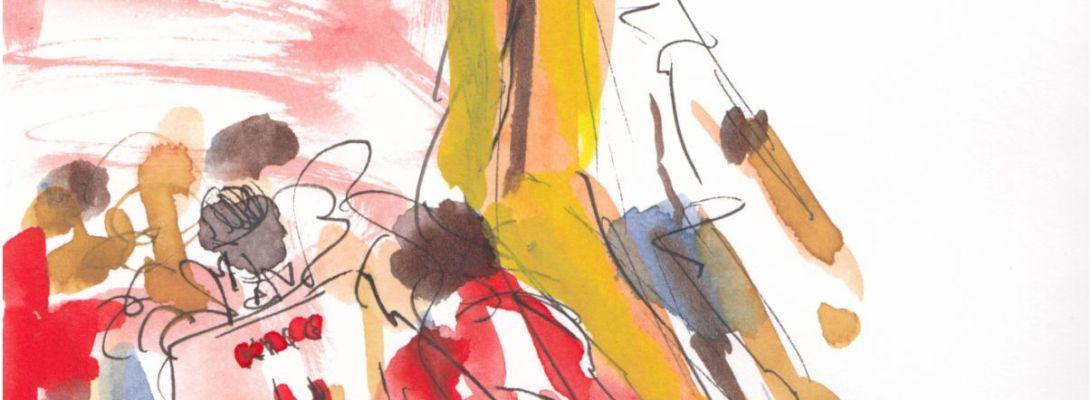 Euros 2021 - Semifinal, England v Denmark: Phenomenal Pickford Original watercolour painting Maxine Dodd