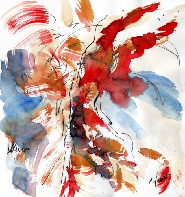 Olympics 2021 - Gymnastics: Vault, original watercolour painting Maxine Dodd