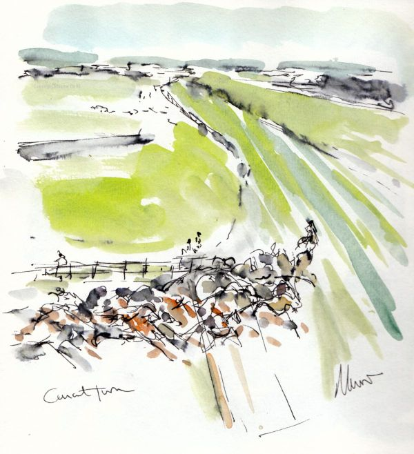 Aintree - Canal Turn - SOLD, watercolour by Maxine Dodd