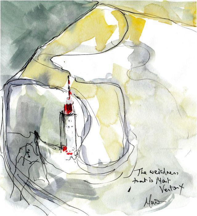 Tour de France 2021 - Stage11, The weirdness that is Mont Ventoux, original watercolour painting Maxine Dodd