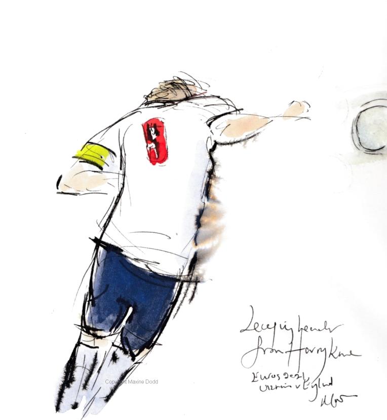 Euros 2021 - Ukraine v England, Leaping header for Harry!